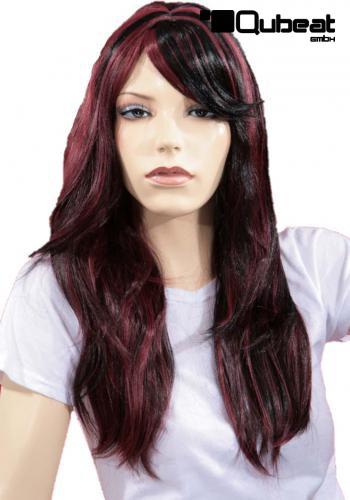 Mit strähnen lange haare schwarze Blonde haare
